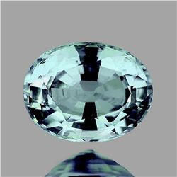 NATURAL LIGHT BLUE ZIRCON 9x7 MM - Untreated