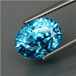 Natural BIG Blue Cambodian Zircon 9.68 Ct - VVS