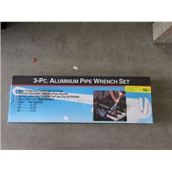 New 3 Piece Aluminum Pipe Wrench Set