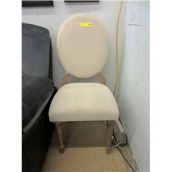 New Upholstered Cameo Back Chair - Oatmeal