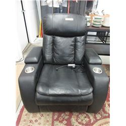 Leather Power Reclining Theater Chair