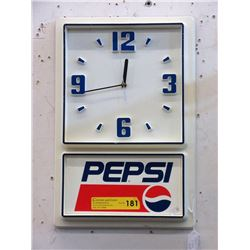 Vintage Battery Operated Pepsi Clock