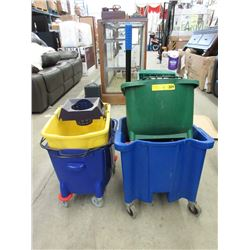 4 Commercial Mop Buckets