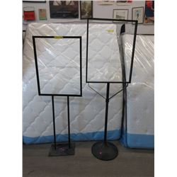 2 Commercial Metal Placard Stands