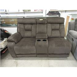 New Brown Fabric Theater Sofa