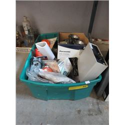 Tote Lot of Tools & Electronics