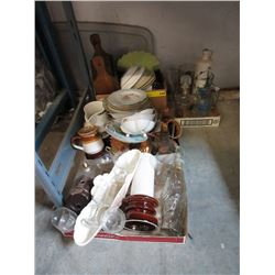 Large Lot of China, Glass & Collectibles.