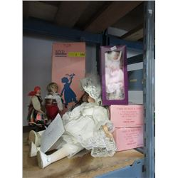 8 Collectible Dolls