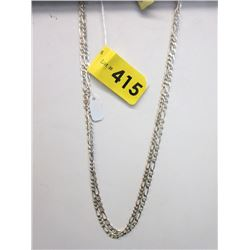 "2 New Sterling Silver 20"" Figaro Link Chains"