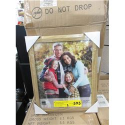 "2 Cases of 12 8"" x 10"" Oak Picture Frames"