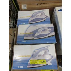 3 New All Function Steam Irons