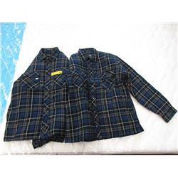 2 New Insulated Plaid Shirts - Size L