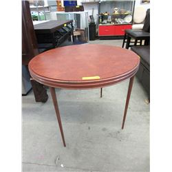 Vintage Folding Round Card Table