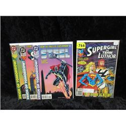 Four 1993 Issue #1 Bagged & Carded DC Comics