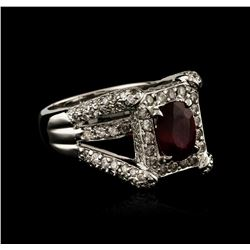 14KT White Gold 2.31 ctw Ruby and Diamond Ring