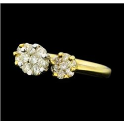 0.90 ctw Diamond Ring - 14KT Yellow And White Gold