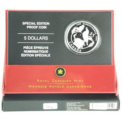 2005 Special Edition Proof $5.00 Silver Coin 'SASK