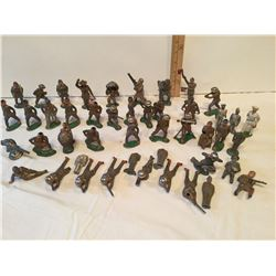 GR OF 46, LEAD ARMY TOY SOLDIERS, MADE IN ENGLAND