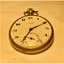 CYMREX POCKET WATCH, GOLD FINISH, NO MARKINGS.