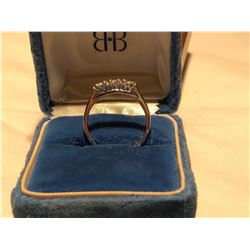 LADIES RING, SIZE 6, STERLING SILVER / 3 DIAMOND SETTING