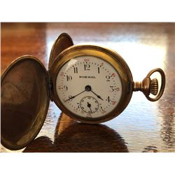 NORMAL SWISS MADE POCKET WATCH WITH GOLD LOOK FINISH