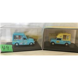 GR OF 2, OXFORD, TONIBELL & WALL'S ICE CREAM TOY VANS WITH DISPLAY CASE