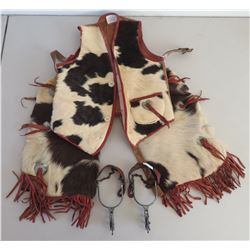 Childs Hair-on Vest & Chaps w/Spurs