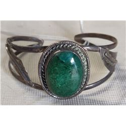 Mexican S.S. & Turquoise Bracelet