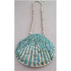 Pueblo Shell Necklace w/Turquoise