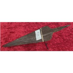 Hand Forged Metal Spear w/Stand