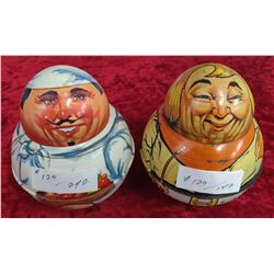 2 Metal Tobacco Containers