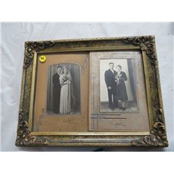 """FRAME W/2 WEDDING PICTURES *14""""X11""""*"""