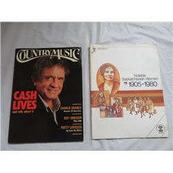 2 MAGAZINES, (COUNTRY MUSIC) *JOHNNY CASH, 1989* (SASK LABOR) *NOTABLE SASKATCHEWAN WOMEN, 1980*