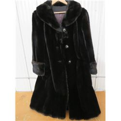 ACRYLIC *FUR* COAT, APPROX SIZE 8