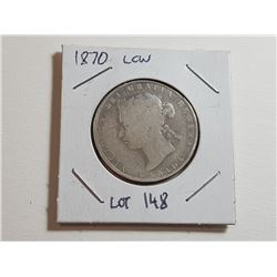50 CENT COIN (1870 LCW)