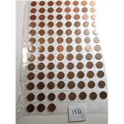 LOT OF 1 CENT PCS (1920 - 2012) *LOTS OF VARIETY* (QTY 99 DIFFERENT)
