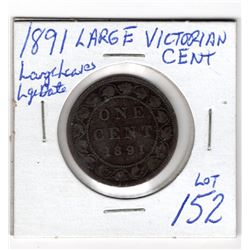 1891 LLLD LARGE VICTORIA CENT