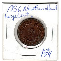 1936 NEWFOUNDLAND LARGE CENT
