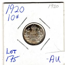 1920 HIGHER GRADE 10 CENTS