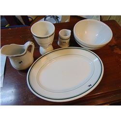 RESTAURANT WARE: MEDALTA  (NO CRACKS), GRINDLEY (CRACK IN EGG HOLDER)