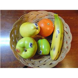 CERAMIC FRUIT IN BASKET
