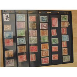 TWO SIDED PAGE OF (NEWFOUNDLAND) STAMPS *RARE LOT*