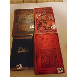 OLD COLLECTIBLE BOOKS (1888, 1897 1905 1924) *PHOTOS ON DISK*