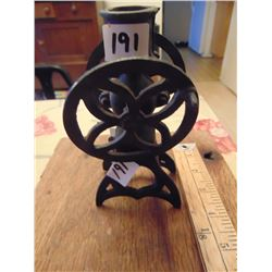 CAST IRON TOY COFFEE MAKER, CANDLE HOLDER
