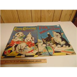 1939 1940 LARGE MOSTLY USED COLORING BOOKS (GREAT DISPLAY)