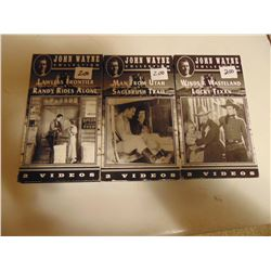 JOHN WAYNE VCR FILM COLLECTION (SIX TAPES IN BOXES) *PHOTOS  ON DISK*