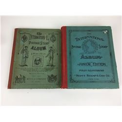 ANTIQUE 1884 (SCOTT & COMPANY) STAMP BOOK & 1938 STAMP ALBUM