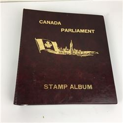 VINTAGE (CANADA) STAMP ALBUM W/MANY STAMPS