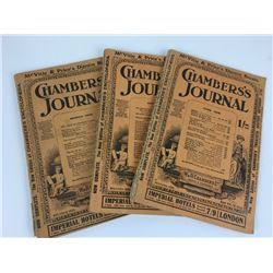 LOT OF 3 1928 (CHAMBERS'S JOURNAL) PUBLICATIONS