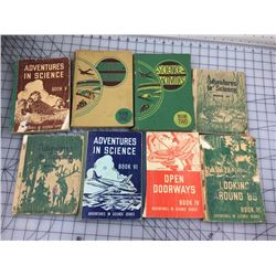 LOT OF 8 VINTAGE CHILDREN'S SCIENCE SCHOOL BOOKS
